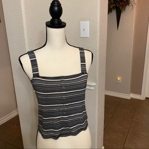 American Eagles Outfitters striped tank crop top